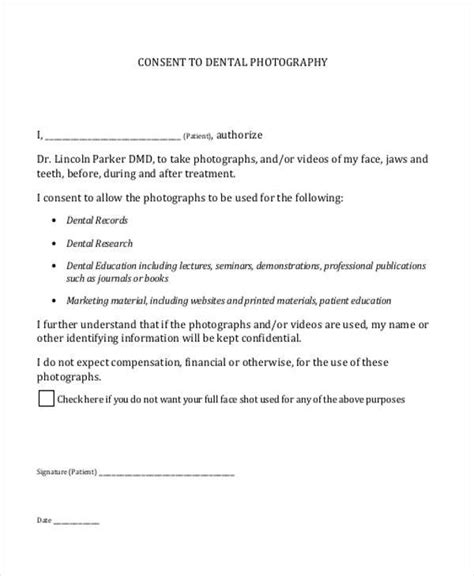 Basic Consent Forms Dental Informed Consent Form Template