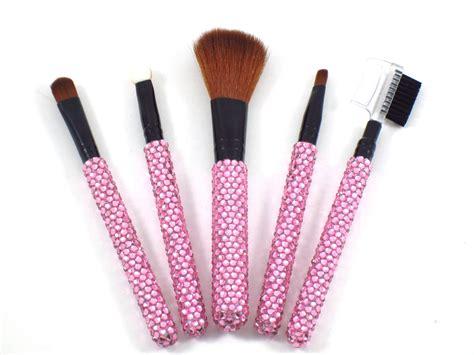 light pink makeup brushes light pink rhinestone bling embellished cosmetic