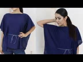 Diy How To Kaftan Poncho Easy No Sew Shirt Youtube