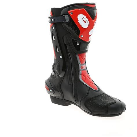 red motorcycle boots sidi st motorcycle boots black red ebay