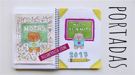 como decorar libretas bonitas portadas para cuadernos decora tus libretas con dibujos