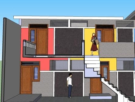 design interior rumah petak rumah petakan 2 lantai eramuslim