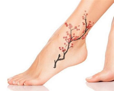 cherry blossom foot tattoo designs 50 exles of cherry blossom tattoos for creative