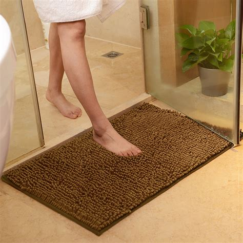 Bathroom Rugs Non Slip Washable Soft Shaggy Non Slip Absorbent Bath Mat Bathroom Shower Rugs Carpet Mat Ebay