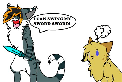 i can swing my sord i can swing my sword by acidwolf23 on deviantart