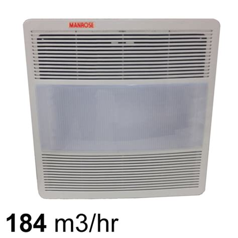 square bathroom exhaust fan with light manrose light n vent square exhaust fan w light