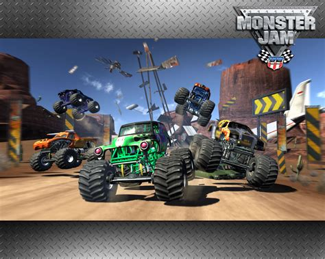 monster trucks video games monster jam video game wallpaper monster trucks