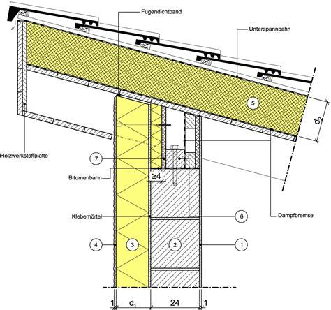 Pultdach Aufbau Detail by Detailseite Planungsatlas Hochbau Au 223 Enwand Mit