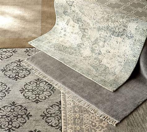 fringed loomed rug gray pottery barn