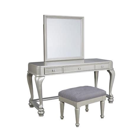 silver bedroom vanity sets coralayne 3 bedroom vanity set in silver