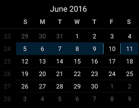 android layout change event can t change android calendarview to another month