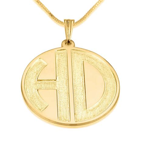 O Necklace 24k gold plated sparkling 2 letters monogram necklace