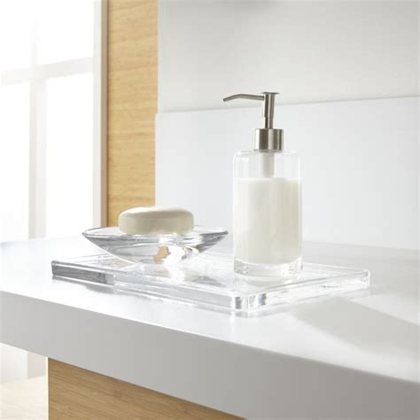 Glass Bathroom Accessories Set Of 3 Crate And Barrel And White Bathroom Accessories