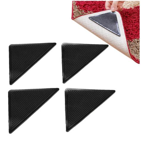 rug gripper pad for carpet 4pcs rug carpet mat grippers non slip corners pad anti skid silicone b4k2