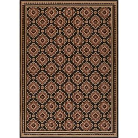 home depot indoor outdoor rug hton bay and black all 7 ft 7 in x 10 ft 10