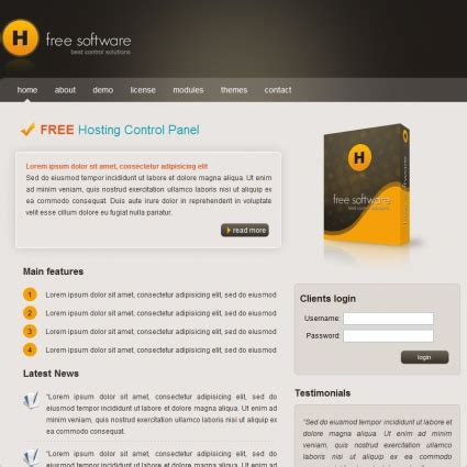 Software Free Website Templates For Free Download About 18 Free Photo Template Software Safero Software House Website Template