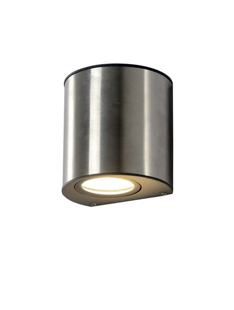 Outdoor Wall Sconce Up Down Lighting 2x Modern Exterior Stainless Steel Up Down Light Wall
