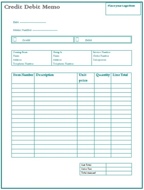 Credit Note Template Quickbooks Credit Memo Create Professional Memos By Using Templates