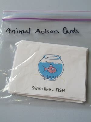 printable animal action cards pinning with purpose kid exercise action cards