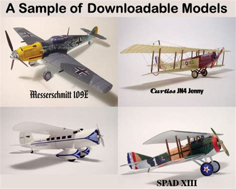 Free Paper Model Planes 5 best images of printable paper airplane models