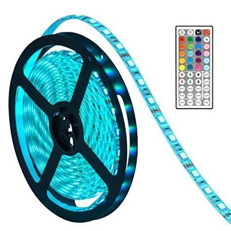 led strip lights amazon led lights strip oak leaf smd5050 waterproof 16 4ft rgb