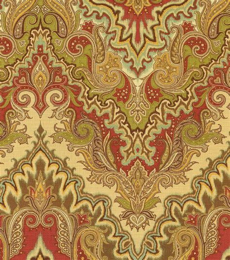 home decor print fabric waverly paisley verse vintage