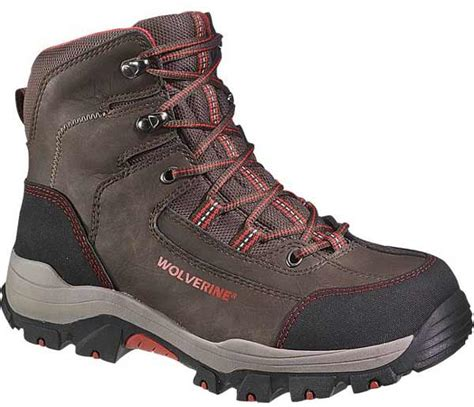 comfortable safety toe boots wolverine bucklin waterproof safety toe hiker