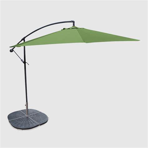 World Market Patio Umbrella 10 Olive Cantilever Umbrella And Weight Base By World Market