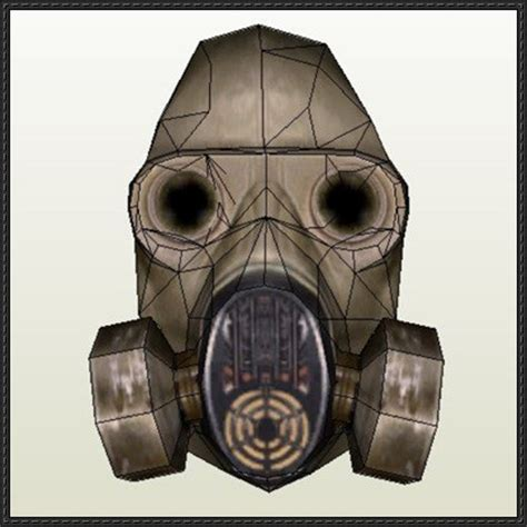 Papercraft Gas Mask - s t a l k e r shadow of chernobyl anti gas mask