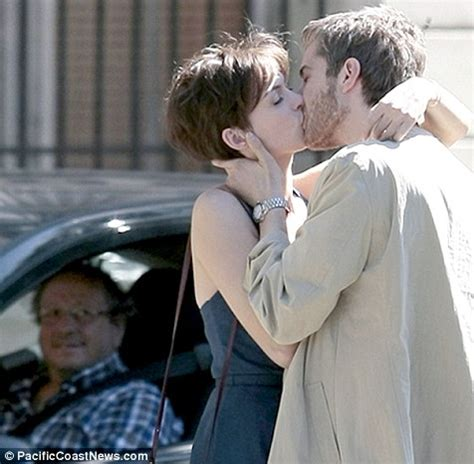 film one day online anne hathaway and jim sturgess lock lips on set of rom com