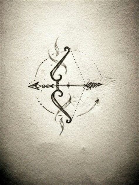 sagittarius arrow tattoo design best 25 bow arrow tattoos ideas on feather