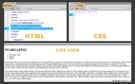simple html css layout code dreamweaver cc css tutorial shs computer courses