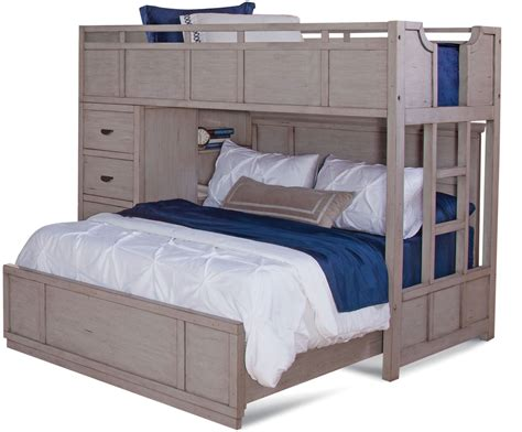 American Bunk Bed by American Woodcrafters Provo Driftwood Patina