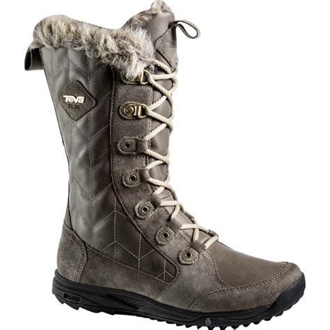 womens waterproof boots teva lenawee leather waterproof boot s