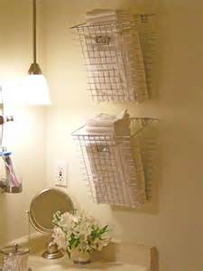 Diy bathroom towel storage wire basket towel storage