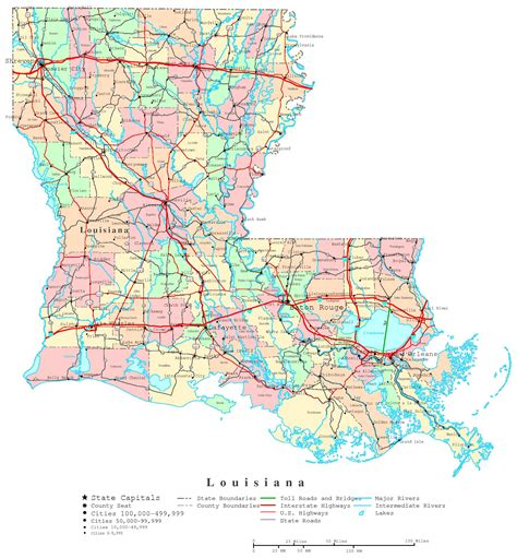 map of louisiana cities louisiana printable map