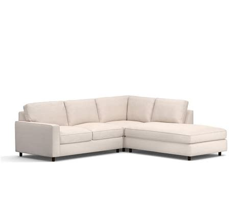 pb comfort square pb comfort square arm upholstered 3 piece bumper sectional
