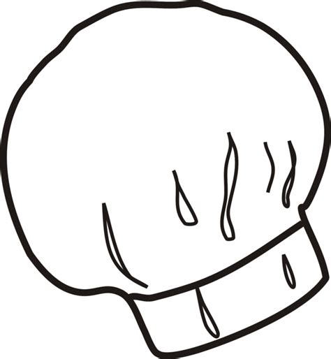 coloring page chef hat chef hat coloring page clipart best