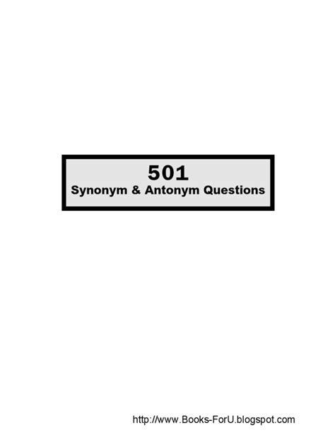 Synonym Antonyms | Graduate Record Examinations | Sat