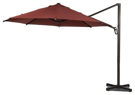Cantilever Patio Umbrella With Base Abba Patio 11 Cantilever Tilt Crank Umbrella Cross