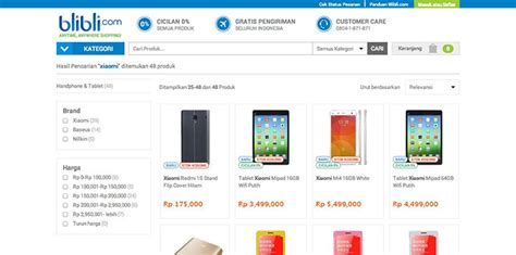 Hp Xiaomi Mi4 Indonesia blibli kembali salip xiaomi jual mi 4 dan mipad