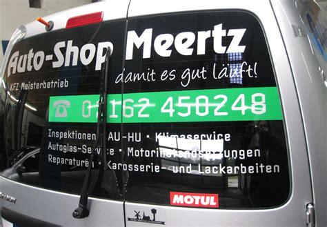Folienbeschriftung Viersen fahrzeugbeschriftung auto shop meertz swn medien