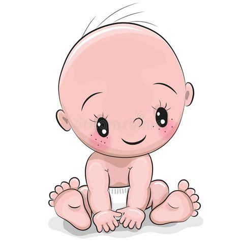 clipart neonato neonato sveglio fumetto illustrazione vettoriale