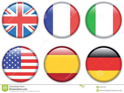 flags of the world round flags stock vector image of buttons competition flags