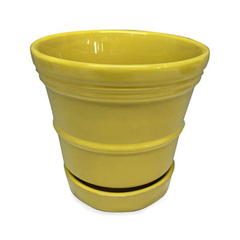 4 5 quot yellow ceramic planter big lots