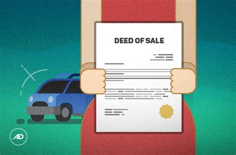 deed of sale of motor vehicle address of buyer the above