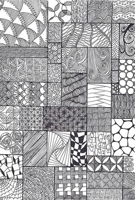 pattern and texture art lessons zentangle