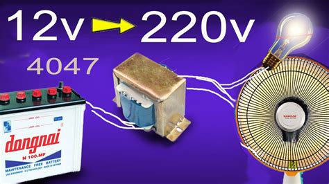how to make inverter 12v to 220v simple circuit diagram
