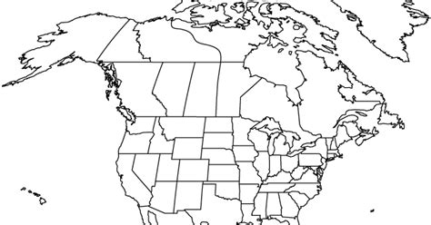 blank physical map of usa and canada blank map of america free printable maps