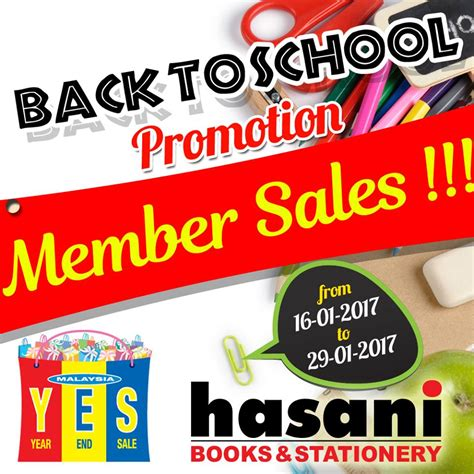 hasani books stationery member sale at setapak central